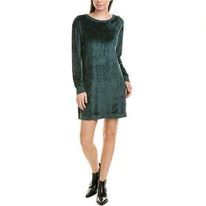 Anthropologie Michael Stars Green Velvet Dress XS NWT